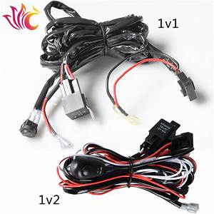 Universal Car Wiring Harness Kit Loom 12v 40a Relay On  Off