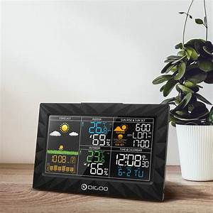 Wireless Home Weather Station Large Lcd Display Outdoor