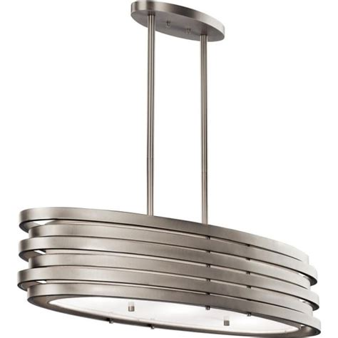 modern oval kitchen island pendant or dining table light