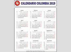 Calendario y festivos en Colombia 2019 Tierra Colombiana