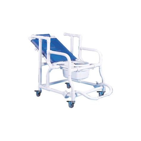 duralife deluxe reclining shower and commode chair