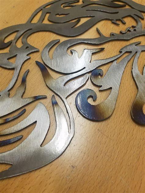 mermaid metal wall art plasma cut decor gift idea nautical gas pro shop fabrication