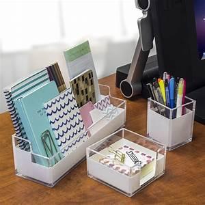 Sorbus, Acrylic, Desk, Organizers, Set, U2013, 3