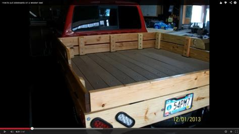 wooden truck bed how to put sideboards on a wooden bed youtube