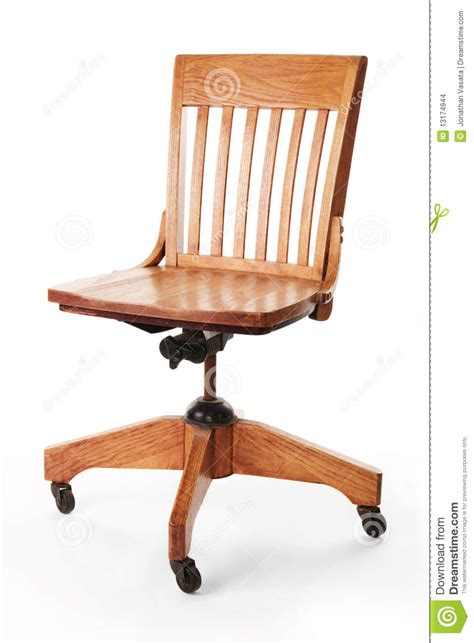 mission style banker s chair stock images image 13174944