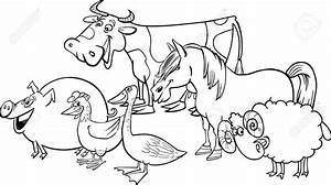 Farm Animals Clipart Black And White | Letters