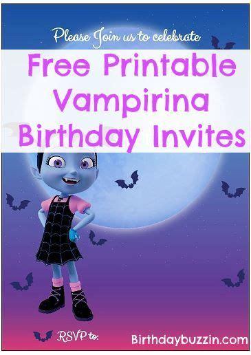 printable vampirina birthday invitations birthday
