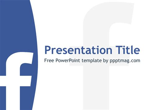 facebook powerpoint template   white