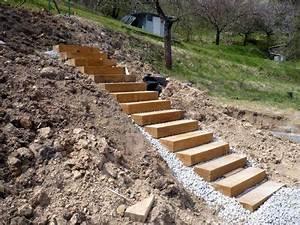 Jak postavit schody na zahradě