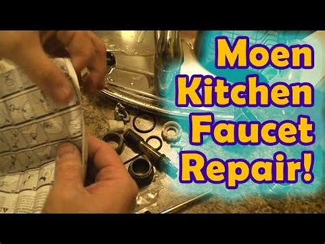 easy moen leaking kitchen faucet repair youtube