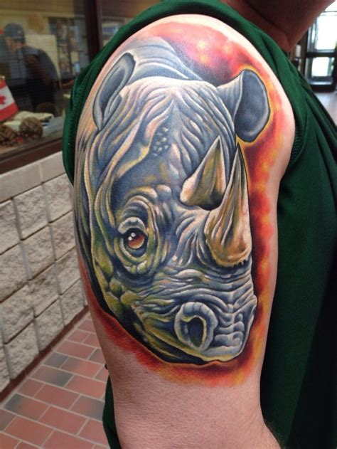 outstanding rhino tattoos
