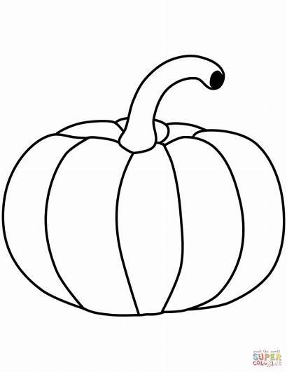 Pumpkin Coloring Pumpkins Calabaza Colorear Printable Ausmalen