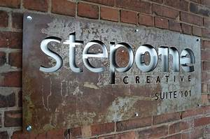metal cut out exterior signage exterior sign pinterest With cut out letters signage