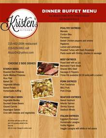 buffet kitchen island dinner buffet menu
