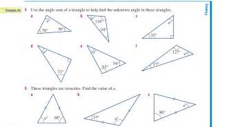 Find Missing Angles Worksheet Missing Angles In Triangles Worksheet Pichaglobal