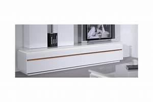 Meuble Tv Blanc Laqué Et Bois : meuble bas blanc tv maison et mobilier d 39 int rieur ~ Teatrodelosmanantiales.com Idées de Décoration