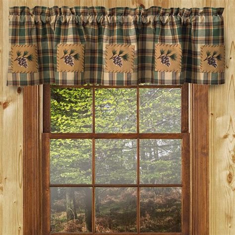 scotch pine lined valance cabin place