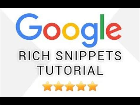 Seo Tools Meaning by Rich Snippets Tutorial Rich Snippets Meaning