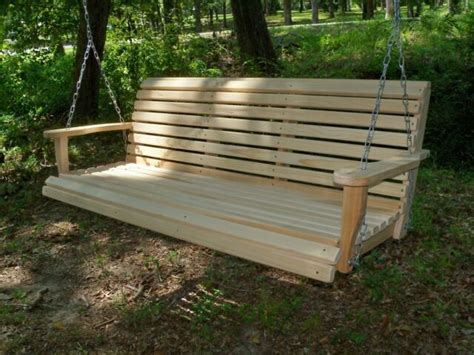 Porch Swing Bench by 5ft Reg Cypress Wood Wooden Porch Bench Swing With Hanging