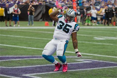 mike tolbert scores touchdown  dances gif