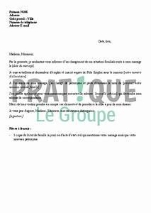 Lettre De Changement D Adresse : lettre d 39 information d 39 un changement de situation pour p le emploi mariage ~ Gottalentnigeria.com Avis de Voitures