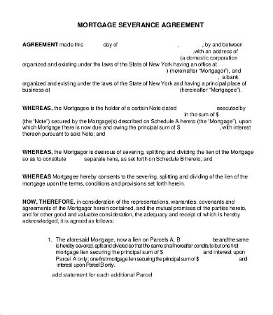 severance agreement template   word