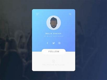 Profile Animation Interaction Screen Ux Ui Dribbble