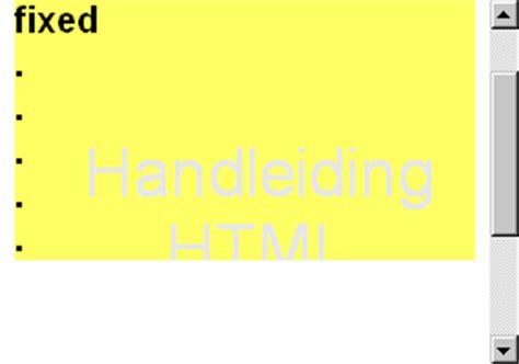 Background Attachment Css Handleiding Html Voorbeelden Background Attachment