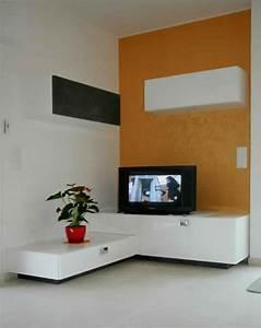 Banc Tv Suspendu : meuble angle suspendu ~ Teatrodelosmanantiales.com Idées de Décoration