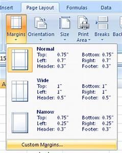 Custom Chart In Excel 2007 Customize Margin Settings Margin Format Style