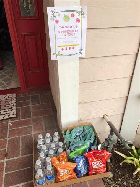 best 28 christmas gift for ups driver leave snacks