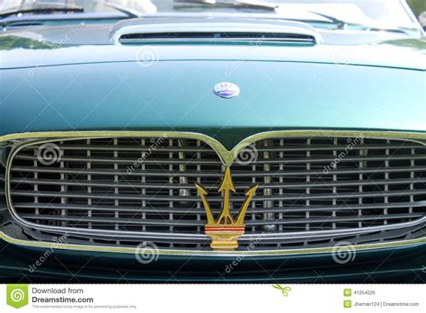 Classic Maserati Sports Cars Grille Detail Editorial Photo