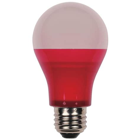 led party light bulb westinghouse 40w equivalent red omni a19 led party light