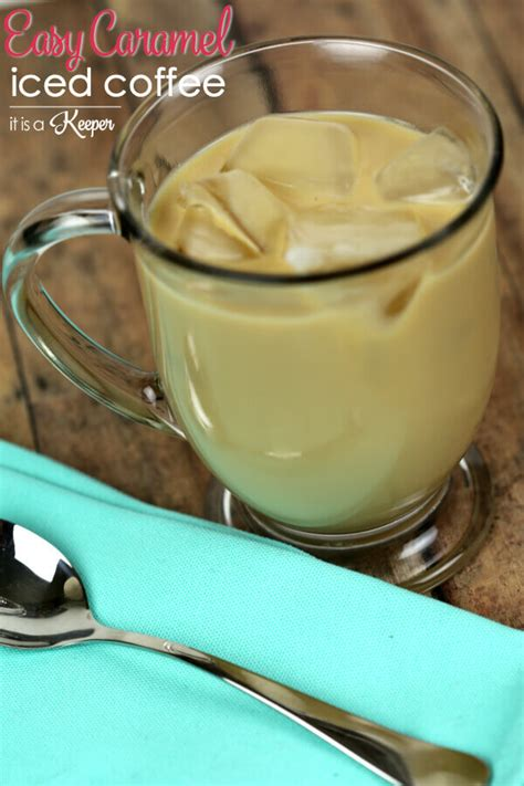 Blended iced coffee creations in your vitamix machine are quick, easy. Easy Caramel Iced Coffee | It Is a Keeper