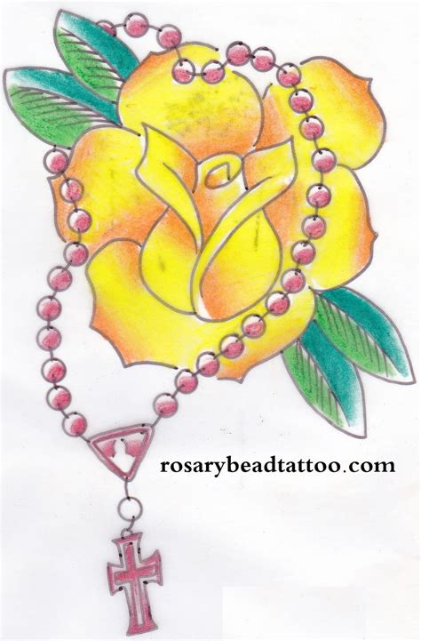 tattoos yellow rose tattoos