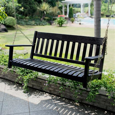 cambridge casual thames black wood porch swing hd