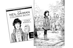 The Neil Gaiman Coloring Book neil gaiman coloring book to be released on