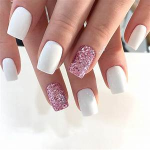 Awesome White Acrylic Nails | NailDesignsJournal.com