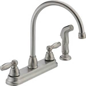 peerless kitchen faucets reviews shop peerless stainless high arc kitchen faucet with side spray at lowes