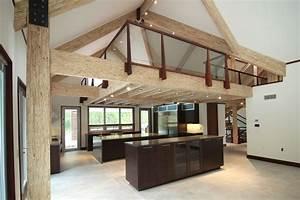 Exposed, Engineered, Wood, Completes, Modern, Barn, House