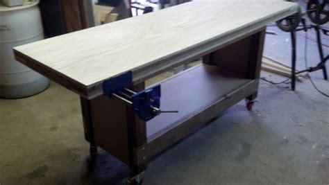 mdf  workbench top woodworking talk woodworkers forum