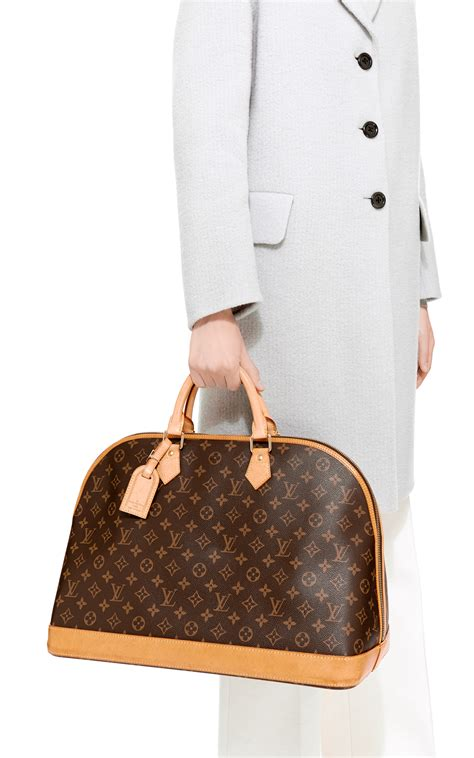 lyst louis vuitton monogram alma voyage        brown