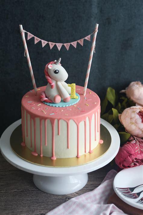 unicorn cake drip topper serene tan birthday fondant ice sign gold baby newsletter satin edibles bake