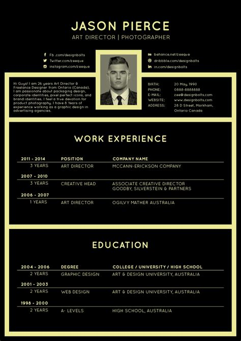beautiful  resume cv templates  ai indesign