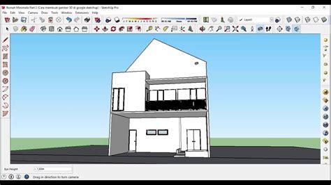 membuat desain rumah  sketchup  dekorhom