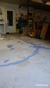 How to paint garage floors with 1 part epoxy paint for How to clean painted garage floor