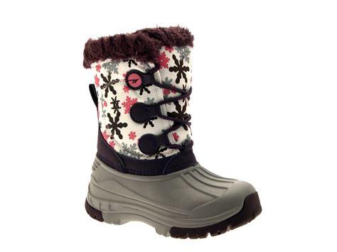 tec kids girls waterproof snow boots warm winter flat