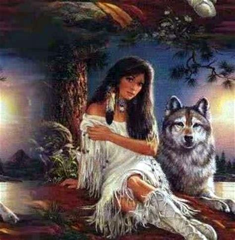 une indienne avec  loup carpe diem