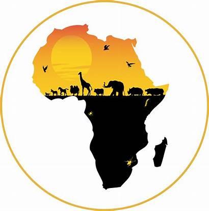 Africa Transparent African Map Animals Vinyl Clipart