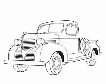 Coloring Chevy Pages Truck Pickup Printable